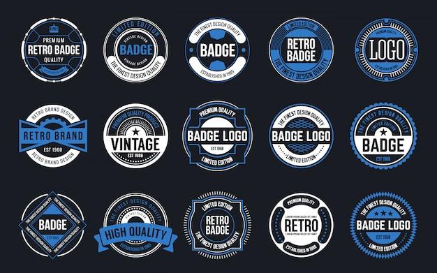 Collezione di design retrò vintage distintivi
