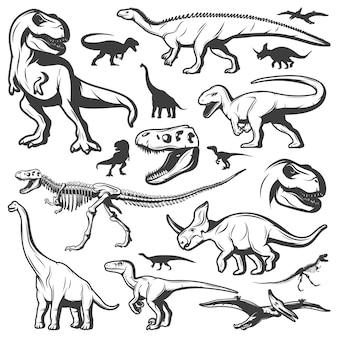 Collezione di dinosauri vintage