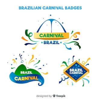 Collezione di distintivi del carnevale brasiliano