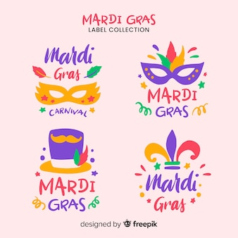 Collezione di distintivi del mardi gras