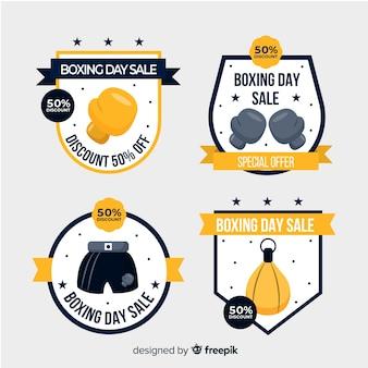 Collezione di distintivo di vendita di giorno di boxe