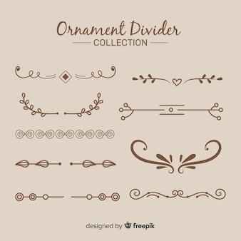 Collezione di divisori per ornamenti