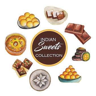 Collezione di dolci indiani