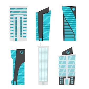 Collezione di edifici piani