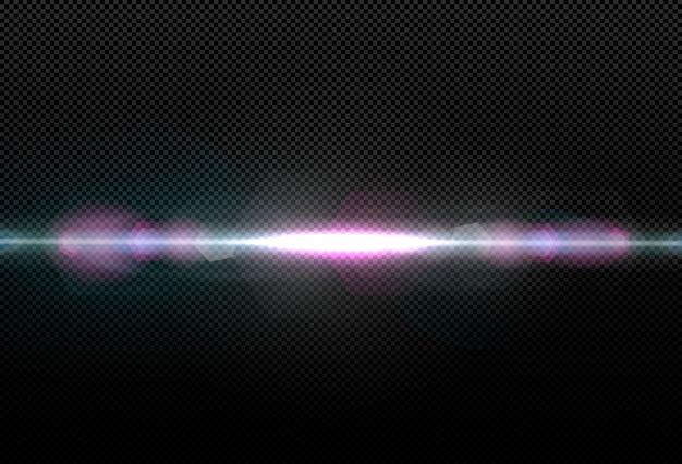 Collezione di effetti di luce bianca incandescente isolato su trasparente. illustrazione per le scorte. esplosione cosmica di particelle luminose.
