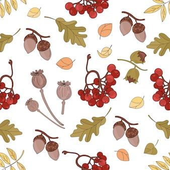 Collezione di elementi autunno foresta