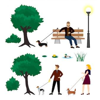 Collezione di elementi colorati parco cittadino