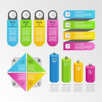Collezione di elementi di business infografica