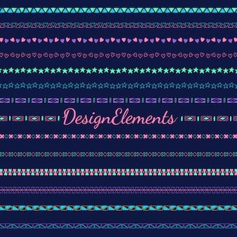 Collezione di elementi di design linea di divisori linea