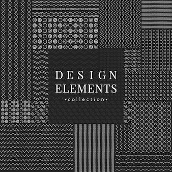 Collezione di elementi di design linea divisori