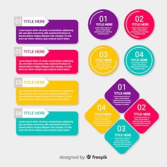 Collezione di elementi di infografica in stile piano
