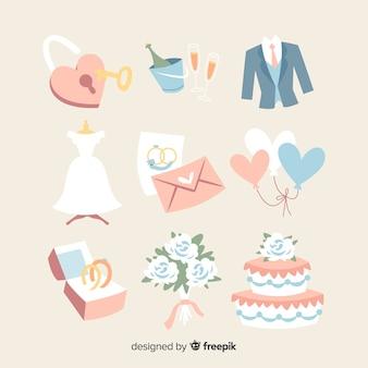 Collezione di elementi di nozze