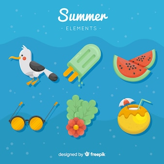 Collezione di elementi estivi