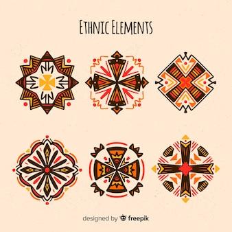 Collezione di elementi etnici