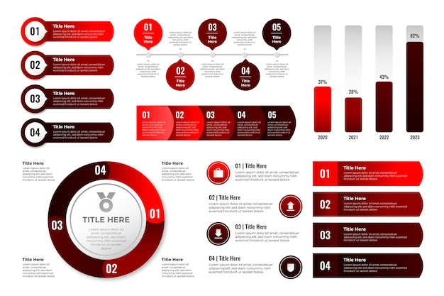Collezione di elementi infografici