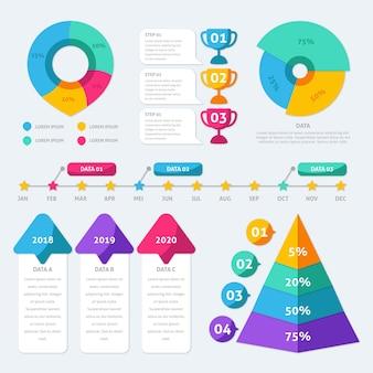 Collezione di elementi infographic piatta