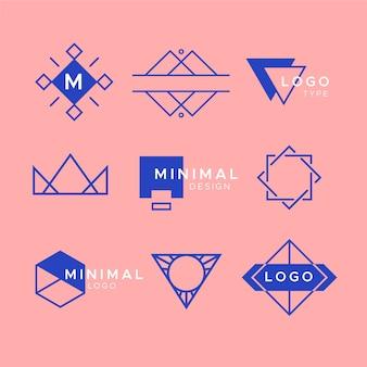 Collezione di elementi minimal logo in due colori