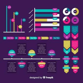 Collezione di elementi moderni infografica