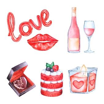 Collezione di elementi per san valentino