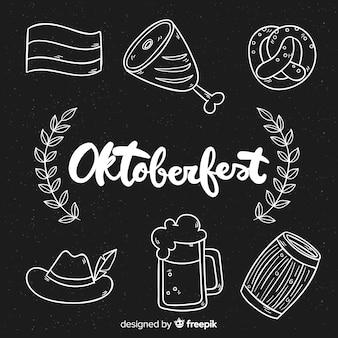 Collezione di elementi più oktoberfest disegnati a mano
