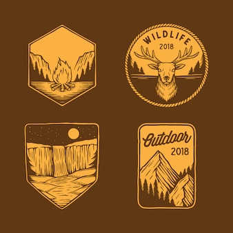 Collezione di emblemi per esterni