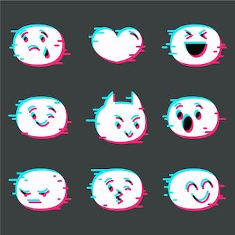 Collezione di emoji glitch