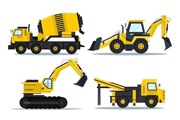Collezione di escavatori