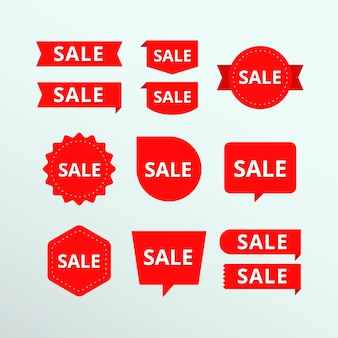 Collezione di etichetta rossa di vendita