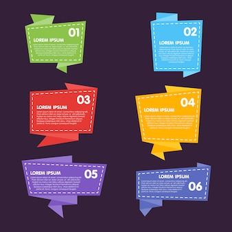 Collezione di etichette astratte, adesivi, etichette