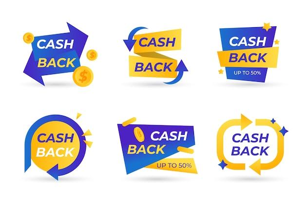 Collezione di etichette cashback