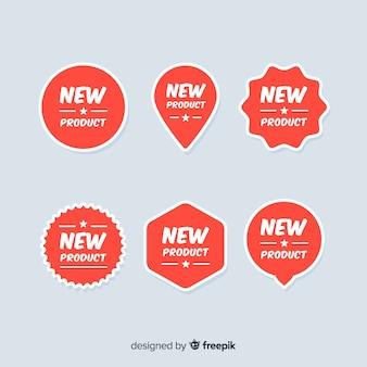 Collezione di etichette colorate di nuovi prodotti