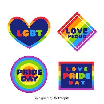 Collezione di etichette colorate giorno orgoglio