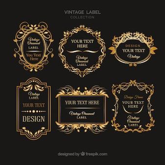 Collezione di etichette con stile vintage