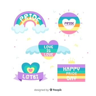Collezione di etichette del giorno dell'orgoglio