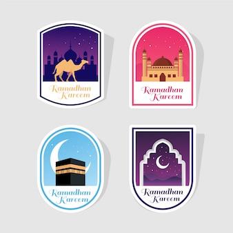 Collezione di etichette del ramadan