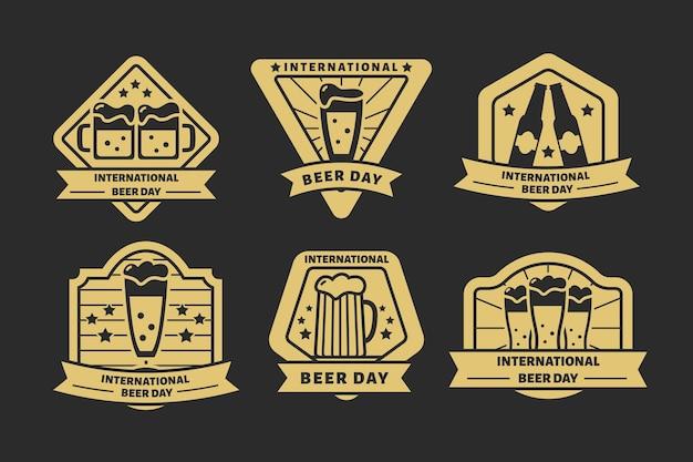 Collezione di etichette della giornata internazionale della birra
