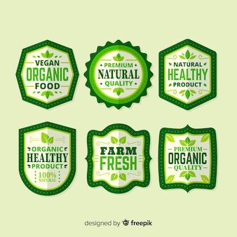 Collezione di etichette di alimenti biologici semplici