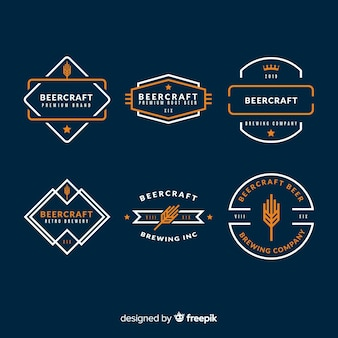 Collezione di etichette di birra