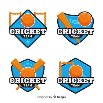 Collezione di etichette di cricket