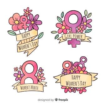Collezione di etichette di giorno della donna