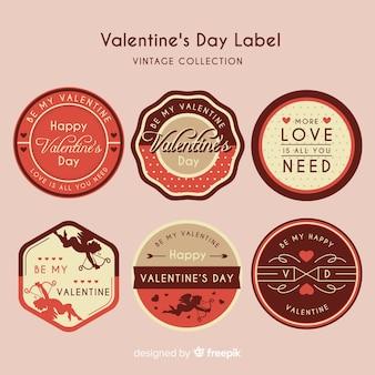 Collezione di etichette di san valentino