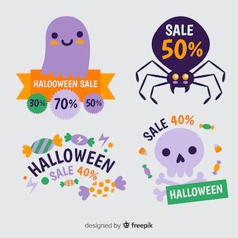 Collezione di etichette di sconto di halloween