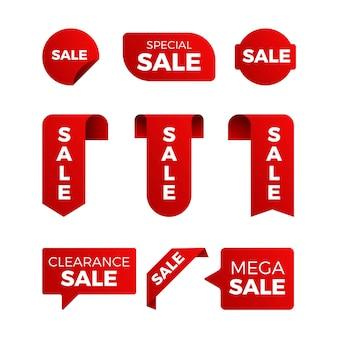 Collezione di etichette di vendita promozionali