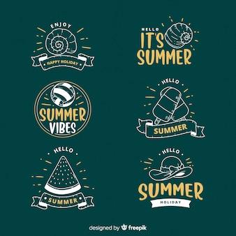 Collezione di etichette estive