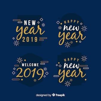 Collezione di etichette happy new year