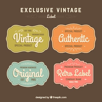 Collezione di etichette in stile vintage