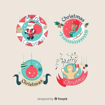 Collezione di etichette natalizie