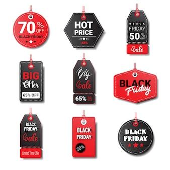 Collezione di etichette o etichette del black friday
