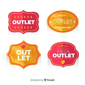 Collezione di etichette outlet
