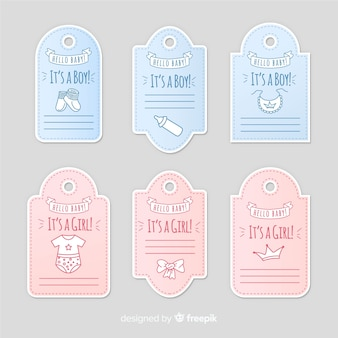 Collezione di etichette per bambini